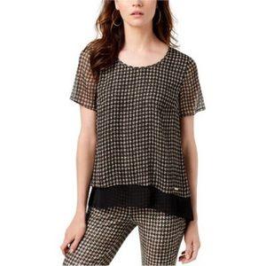 Michael Kors short sleeve blouse Size large